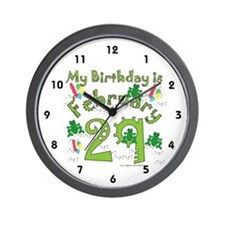 Leap Year Birthday Feb. 29th Wall Clock