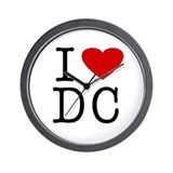 I Love Washington (DC) Wall Clock
