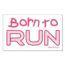 Born to Run Rectangle Decal