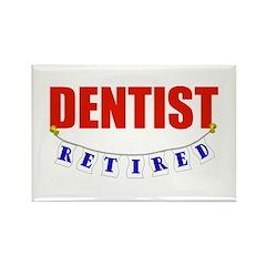 Retired Dentist Rectangle Magnet