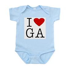 I Love Georgia (GA) Infant Creeper