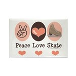 Peace Love Skate Ice Skating Rectangle Magnet
