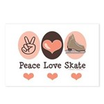 Peace Love Skate Ice Skating Postcards 8 Pack