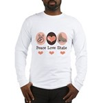 Peace Love Skate Ice Skating Long Sleeve T-Shirt