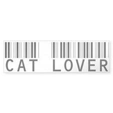 Cat Lover Barcode Bumper Bumper Sticker