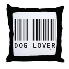 Dog Lover Barcode Throw Pillow