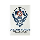 USAF Thunderbirds Diamond Rectangle Magnet