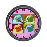 Pop Art Pugs Wall Clock