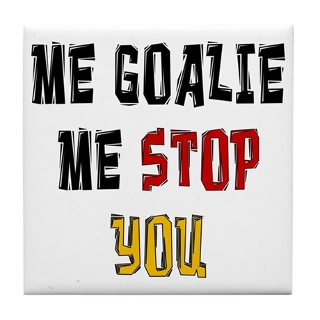 Me Goalie Tile Coaster