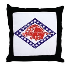 ARKANSAS NATIONAL GUARD 2 Throw Pillow