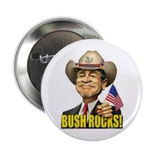 "Bush Rocks! 2.25"" Button (100 pack)"