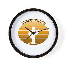 Albequerque, New Mexico Wall Clock