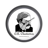 G.K. Chesterton Wall Clock
