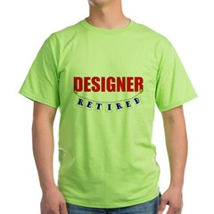 Retired Designer Green T-Shirt