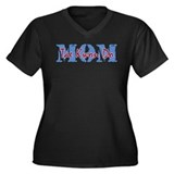 Tae Kwon Do MOM Women's Plus Size V-Neck Dark T-Sh
