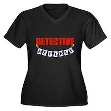 Retired Detective Women's Plus Size V-Neck Dark T-