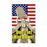 Don't let him down! Rectangle Decal