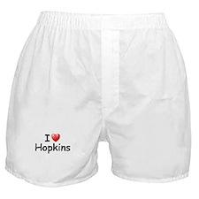 I Love Hopkins (Black) Boxer Shorts