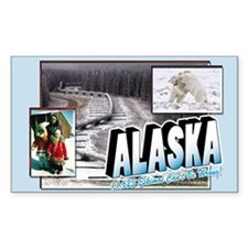 Alaska Rectangle Bumper Stickers