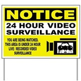 Warning of video surveillance Yard Signs