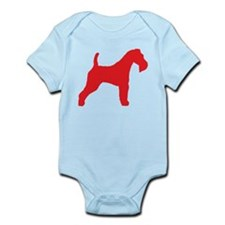 Red Wire Fox Terrier Infant Bodysuit