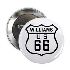 "Williams, Arizona Route 66 2.25"" Button (100 pack)"