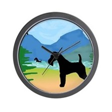 Wild River Wire Fox Terrier Wall Clock