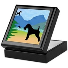 Wild River Wire Fox Terrier Keepsake Box