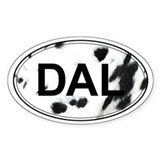 Dalmatian Oval Sticker (Black & White)