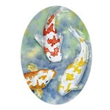 Koi Oval Ornament