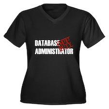 Off Duty Database Admin Women's Plus Size V-Neck D