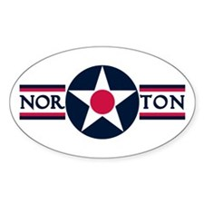 Norton Air Force Base Oval Decal