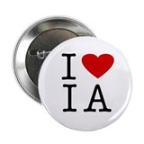 I Love Iowa (IA) Button