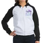 Crochet Purple Women's Raglan Hoodie