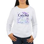 Crochet Purple Women's Long Sleeve T-Shirt