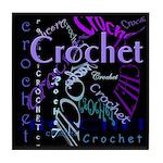 Crochet Purple Tile Coaster