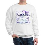 Crochet Purple Sweatshirt