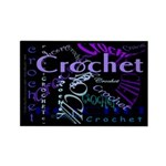 Crochet Purple Rectangle Magnet (10 pack)