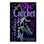 Crochet Purple Postcards (Package of 8)