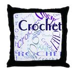 Crochet Purple Throw Pillow