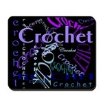 Crochet Purple Mousepad