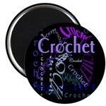 Crochet Purple Magnet