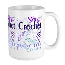 Crochet Purple Coffee Mug