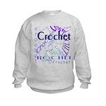 Crochet Purple Kids Sweatshirt