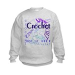 Crochet Purple Kids Sweatshirt