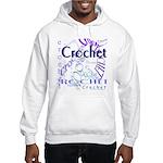 Crochet Purple Hooded Sweatshirt