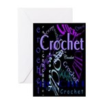 Crochet Purple Greeting Card