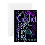 Crochet Purple Greeting Card