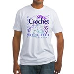Crochet Purple Fitted T-Shirt