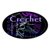 Crochet Purple Oval Decal